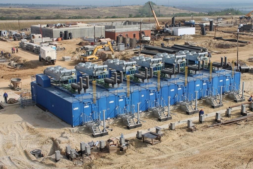 Инженерная подготовка территории  КС «Казачья» (1-ая очередь) Южно-Европейского газопровода.