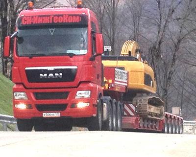 Перевозки крупногабаритных грузов от компании «ИнжГеоКом»