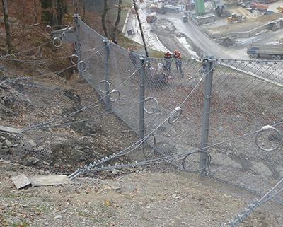 Противокамнепадные барьеры - защита от камнепадов